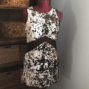 Black and white sequin mini dress by SheIn